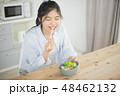 サラダ 女性 アジア人の写真 48462132