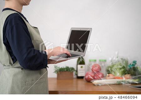 レシピ、献立、ノートパソコン 48466094
