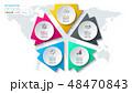 アイコン イコン 図表のイラスト 48470843