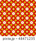 花 花柄 模様のイラスト 48471235