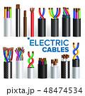 ケーブル 配線 針金のイラスト 48474534