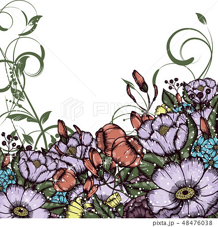 Abstract vector flower background 48476038