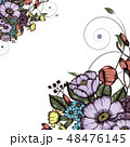 Abstract vector flower background 48476145