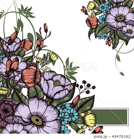 Abstract vector flower background 48476162
