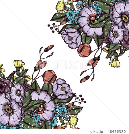 Abstract vector flower background 48476320