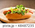 ホットドッグ 調理パン パンの写真 48487235
