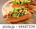 ホットドッグ 調理パン パンの写真 48487236