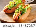 ホットドッグ 調理パン パンの写真 48487237