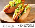 ホットドッグ 調理パン パンの写真 48487238