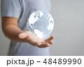 Hand present world graphic 48489990