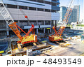 建設現場 建設 建築現場の写真 48493549
