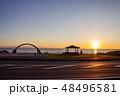 道北の日没 48496581