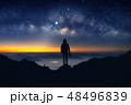 フォトグラファー 空 人影の写真 48496839