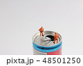 figure of worker top of soda can 48501250