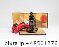 the small figure of  historic samurai armor 48501276