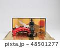 the small figure of  historic samurai armor 48501277