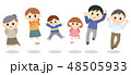 家族 ジャンプ 笑顔のイラスト 48505933