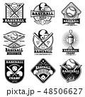 ベースボール 白球 野球のイラスト 48506627