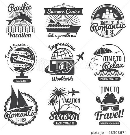 Vintage travel vector logo set 48508674