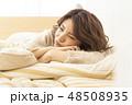 若い女性 リラックス 休日の写真 48508935