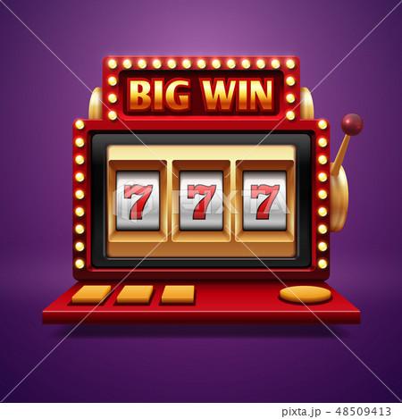 Jackpot slot casino machine. Vector one arm bandit 48509413