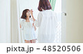 woman drying her hair 48520506