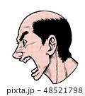 劇画 男性 横顔のイラスト 48521798