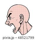 劇画 男性 横顔のイラスト 48521799