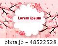 花 カード 葉書のイラスト 48522528