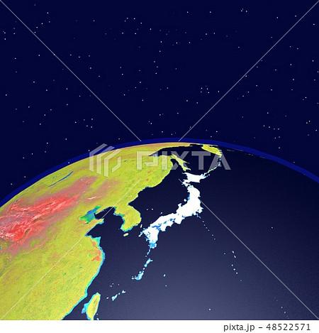 黒い地球(星あり) 48522571