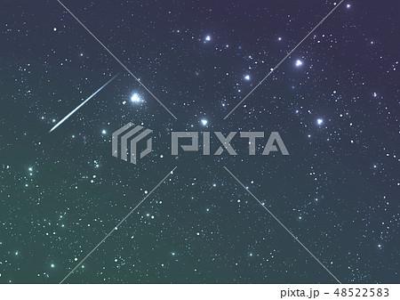 流れ星と星空 48522583