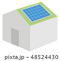 パワポで使いやすい太陽光発電システムのイラスト 48524430