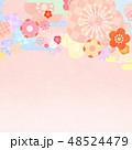 和-和風-和柄-背景-和紙-春-ピンク 48524479