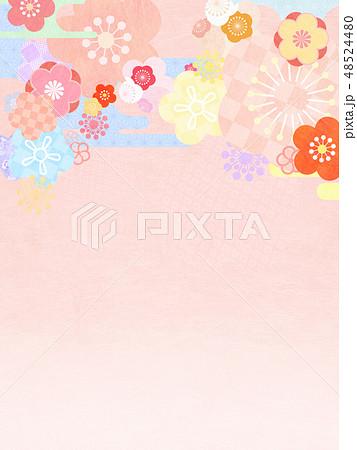 和-和風-和柄-背景-和紙-春-ピンク 48524480