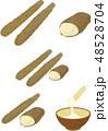 とろろ 長芋 芋のイラスト 48528704