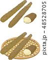 野菜 食材 長芋のイラスト 48528705