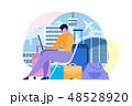 トラベル ベクトル オンラインのイラスト 48528920