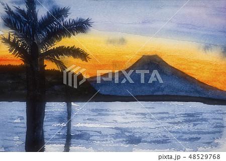 館山から見る富士山 48529768