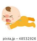 ハイハイ 赤ちゃん 泣き顔のイラスト 48532926