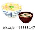 親子丼味噌汁 48533147
