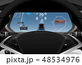 Self driving electric car dashboard  48534976