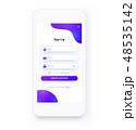 登録 届け出 モバイルのイラスト 48535142