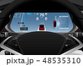 Self driving electric car dashboard  48535310