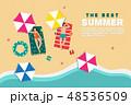ビーチ 浜辺 夏のイラスト 48536509