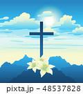 復活祭 イエス イエスキリストのイラスト 48537828