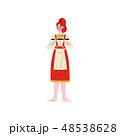 ウェイトレス 女性 サービスのイラスト 48538628