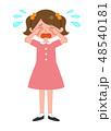 女の子 泣く 子供のイラスト 48540181