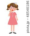女の子 青ざめる 子供のイラスト 48540186