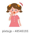 女の子 びっくり 子供のイラスト 48540193