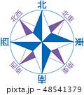地図の方位マーク(8方位・漢字表記) 48541379